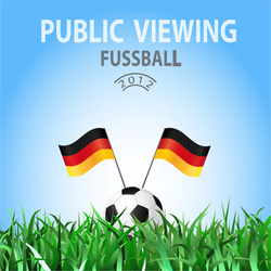 Public Viewing in Hamburg zur Fussball EM 2012