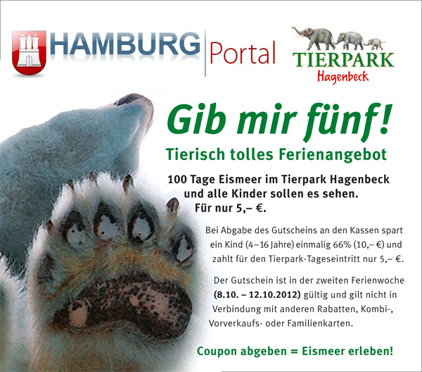 Tierpark Hagenbeck Ferienaktion Coupon