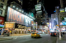 Das 'Winter Garden Theatre' am Broadway - Spielstätte des Stage Entertainment Musicals 'ROCKY' am 13.03.14